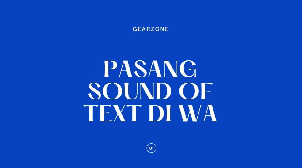 pasang sound of text di whatsapp